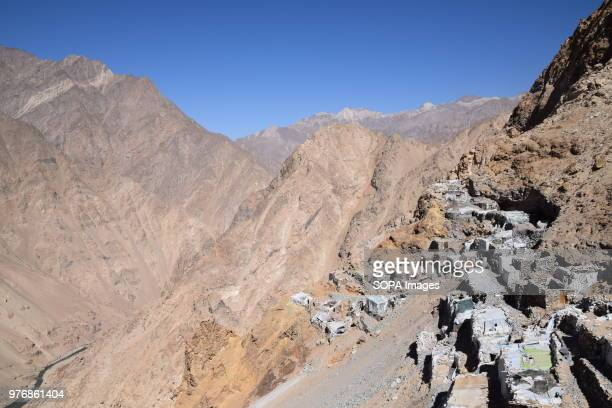 BADAKHSHAN AFGHANISTAN Stone huts in front of the lapis lazuli mine Junduk Mahdani Lojward Over the past years the government embargoed what it deems...