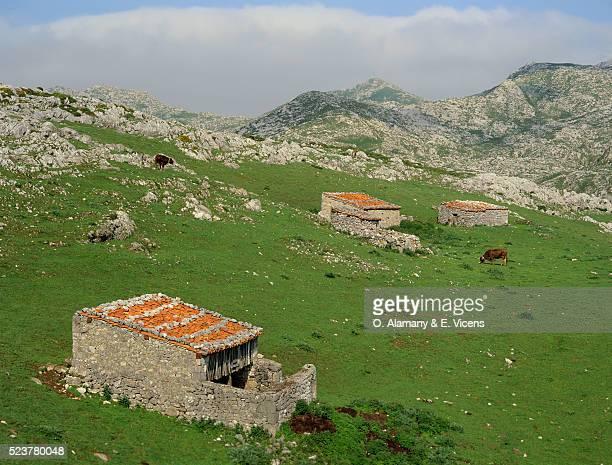 stone huts in las bobias - alamany fotografías e imágenes de stock