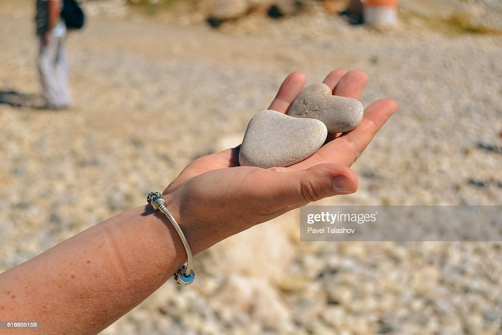 Stone in the form of heart : Stock Photo