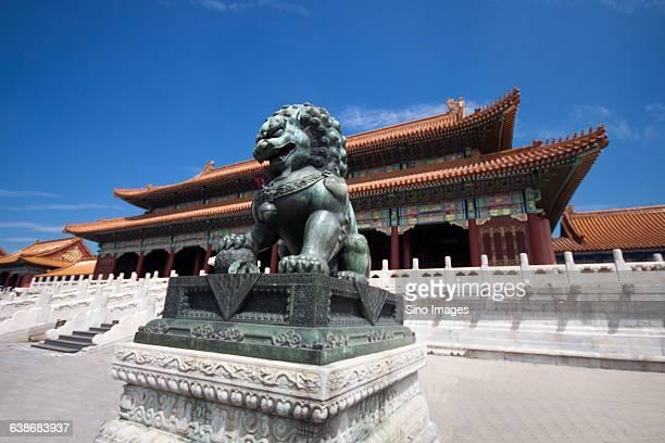 stone lion of Forbidden City