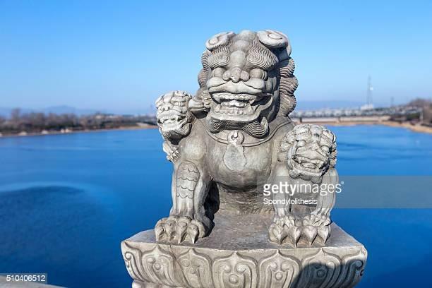 Stone Lions on the Beijing Marco Polo Bridge