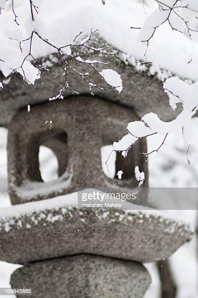 Stone Lnatern in Snow