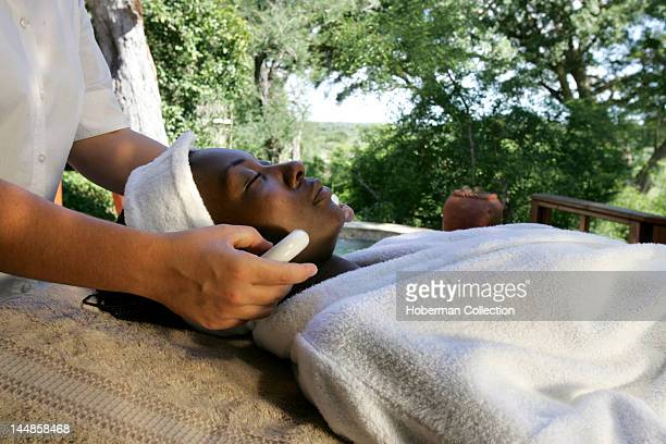 Stone Massage in Nature Tinga Legends Game Lodge Kruger National Park South Africa Africa