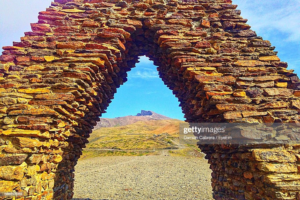 Stone Material Structure On Field : Stock Photo