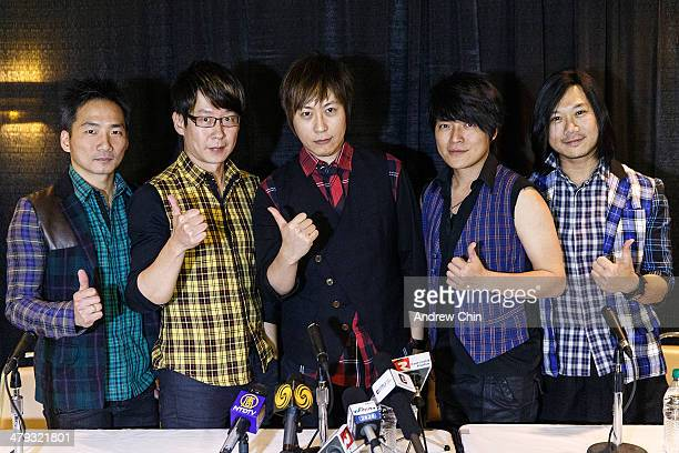 Stone Ming Ashin Monster Masa of Mayday poses for a photograph after their North American 'NowHere World Tour' press conference at Pacific Coliseum...