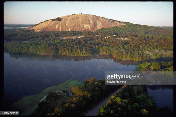 Stone Mountain located in Stone Mountain Park is the largest granite outcropping in the world Near Atlanta Georgia USA
