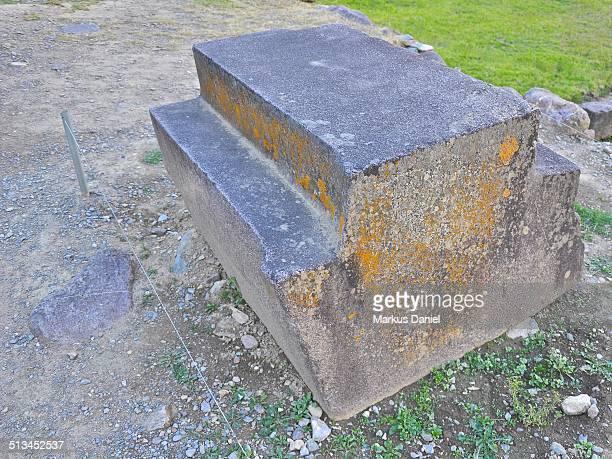 Stone of Inca Ruins in Ollantaytambo, Peru