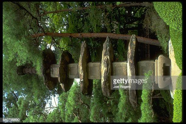 Stone Pagoda in Japanese Garden