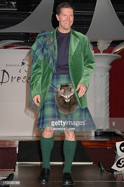 Stone Philips during Johnnie Walker Presents Dressed to Kilt Arrivals and Runway at Copacabana in New York City New York United States