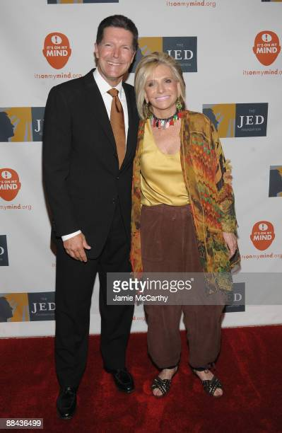 Stone Phillips and President of Documentary and Family Programming for HBO and Cinemax Sheila Nevins attend the 8th Annual Jed Foundation Gala at...