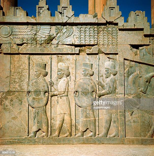 stone relief , persepolis , iran - persepolis stock pictures, royalty-free photos & images