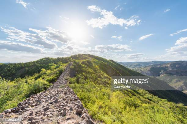 stone road at the top of the mountain - hill stock pictures, royalty-free photos & images