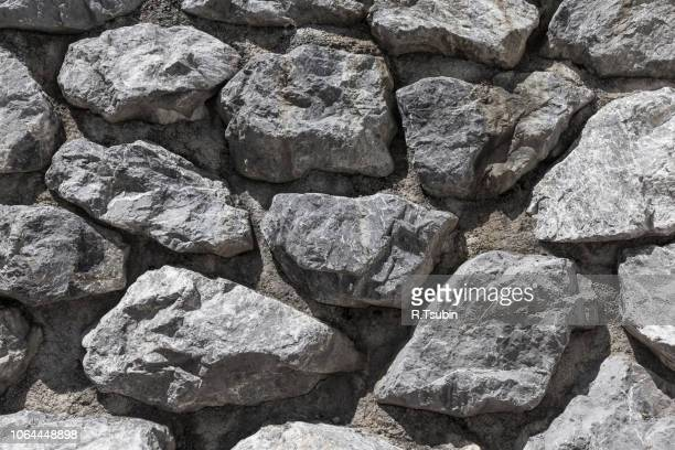 stone rock wall for background and texture - block shape stock pictures, royalty-free photos & images