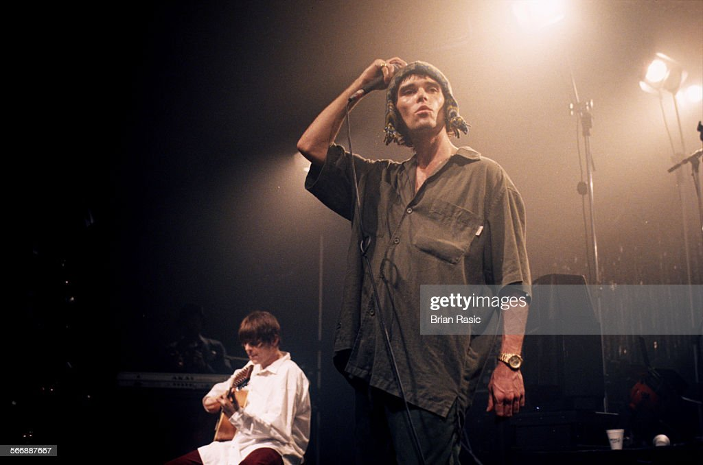 Stone Roses Performing At The Corn Exchange, Cambridge, Britain - 1995 : News Photo