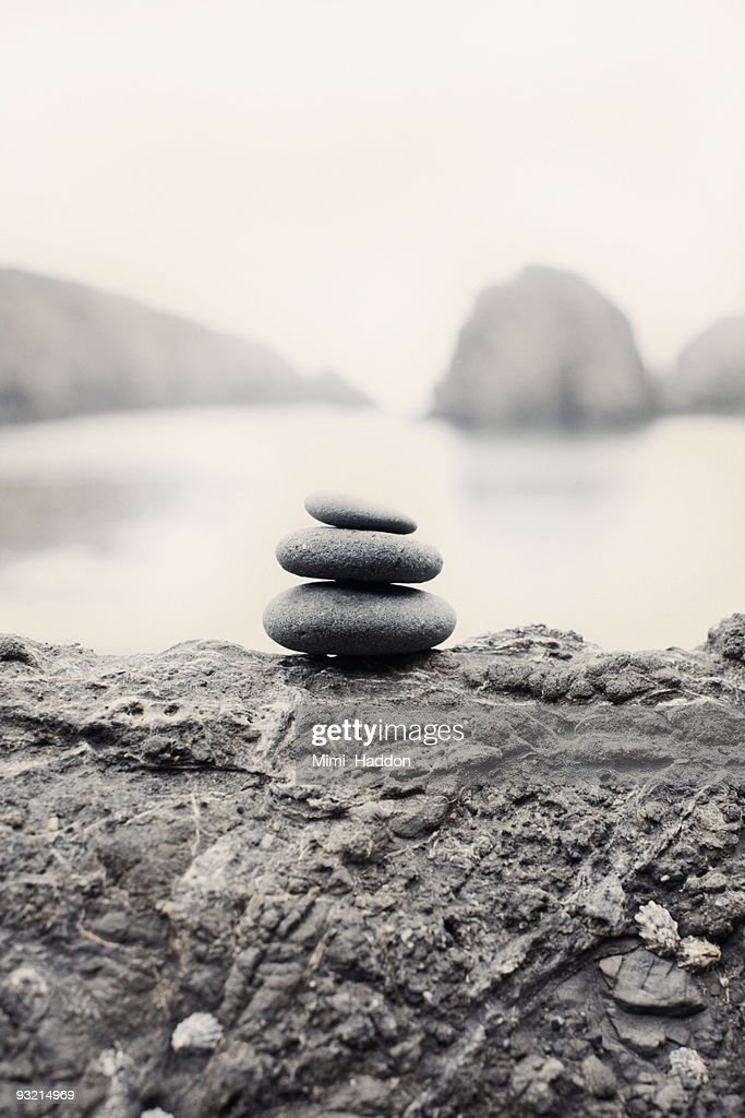 Stone Sculpture on Rock Formation : Stock Photo