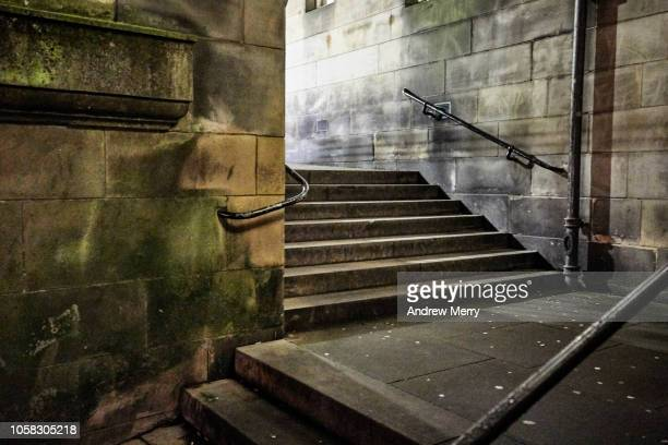 Stone staircase at night, Old Town, Edinburgh