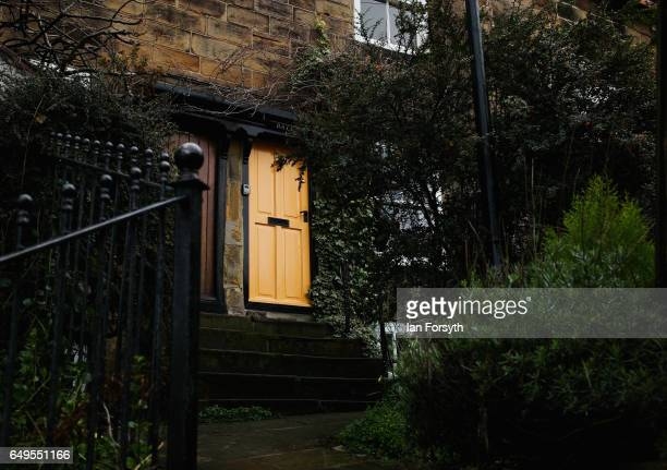 A stone stairway leads to a cottage in Robin Hood's Bay on the North Yorkshire coast on March 8 2017 in Robin Hood's Bay United Kingdom Robin Hood's...