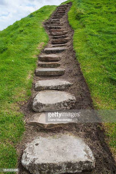 stone steps, st andrews, scotland - fife scotland stock pictures, royalty-free photos & images
