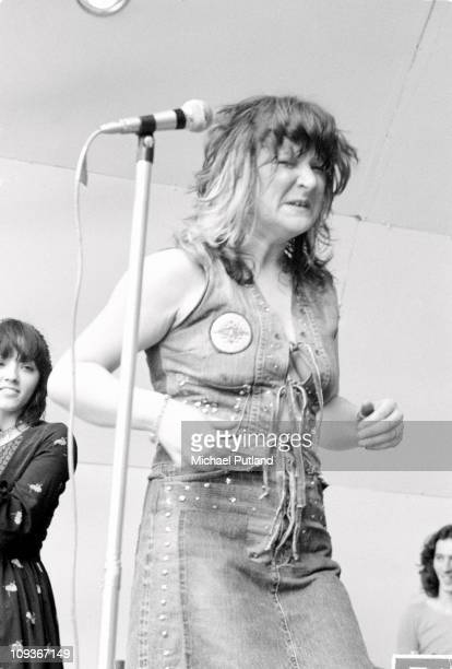 Stone the Crows perform at Crystal Palace Bowl, London, 29th July 1972, Maggie Bell.