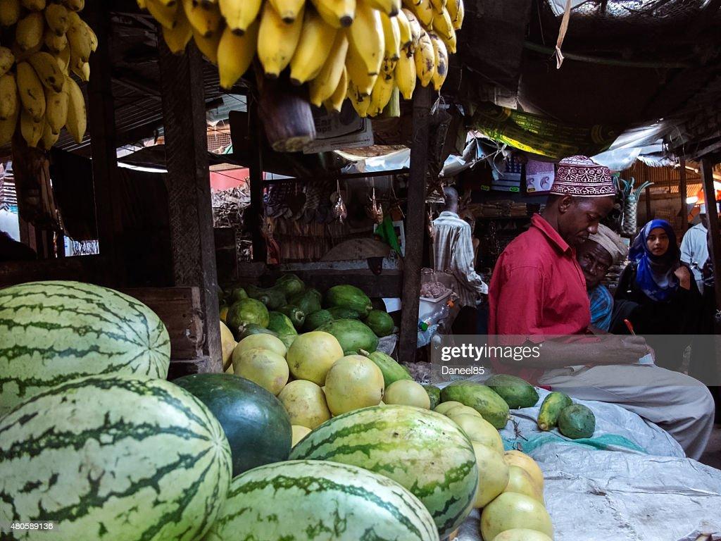 Stone Town, Zanzibar - Market : Stock Photo