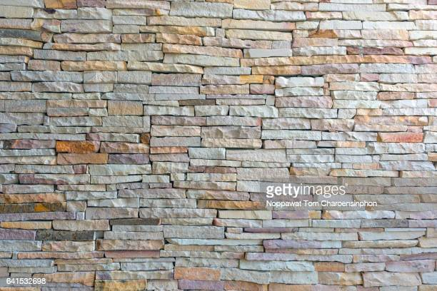 stone wall, bangkok, thailand - sandstone stock pictures, royalty-free photos & images