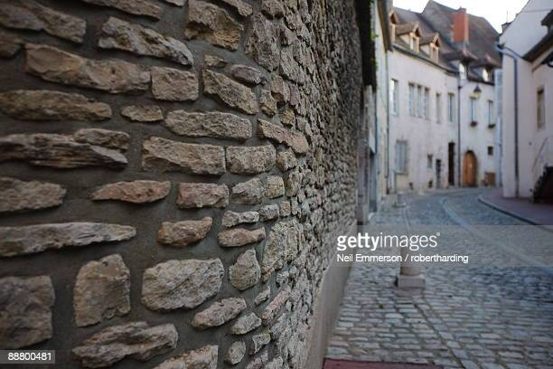 Stone wall, Beaune, Burgundy, France, Europe