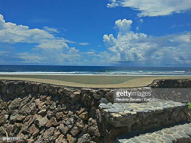 Stone Wall By Sea