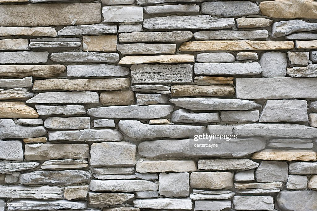 stone wall, flat stacked background and texture : Stock Photo