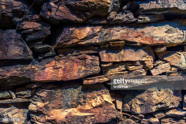 stone wall in an old traditional village of China