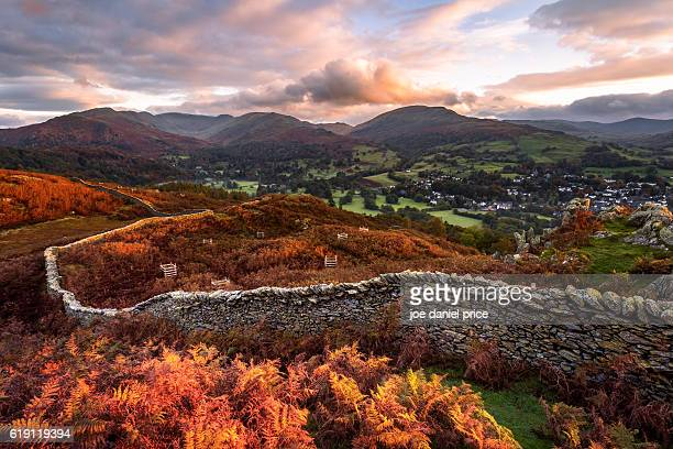 Stone Wall, Loughrigg Fell, Ambleside, Lake District, Cumbria, England