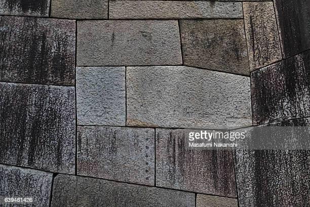 Stone wall of Osaka Castle