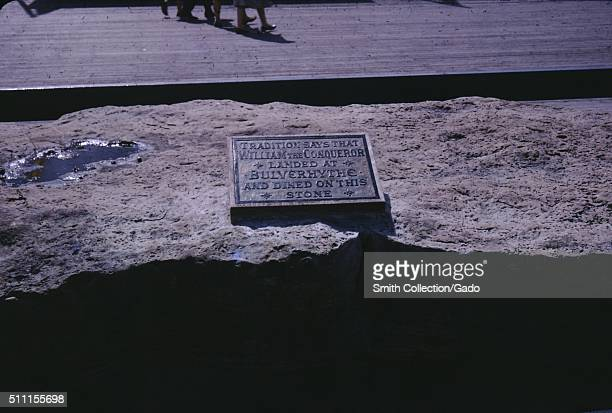 Stone where William the Conqueror was rumored to have eaten Hastings England United Kingdom 1960
