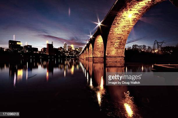 stonearch skyline - minneapolis stock photos and pictures