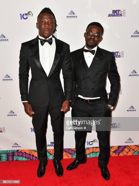 Stonebwoy and Zylofon Media CEO Nana Appiah Mensah attend the BETX International Nominee Party during the 2018 BET Experience at Hotel Indigo Los...