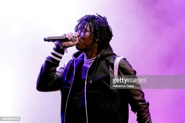 Stonebwoy performs onstage during the 2017 BETX main stage performances sponsored By Fresh Empire at Staples Center on June 25 2017 in Los Angeles...