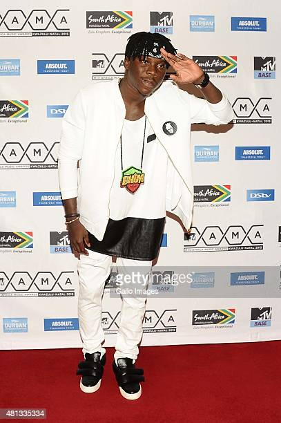 Stonebwoy seen on the red carpet at the 2015 MTV Africa Music Awards on July 182015 at the Durban International Conference Centre in DurbanSouth...