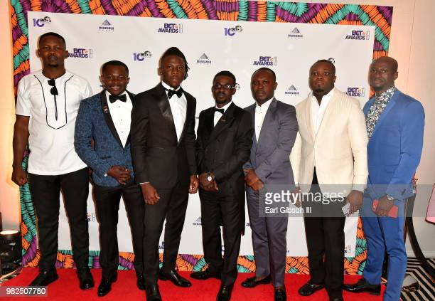 Stonebwoy Zylofon Media CEO Nana Appiah Mensah and guests attend the BETX International Nominee Party during the 2018 BET Experience at Hotel Indigo...