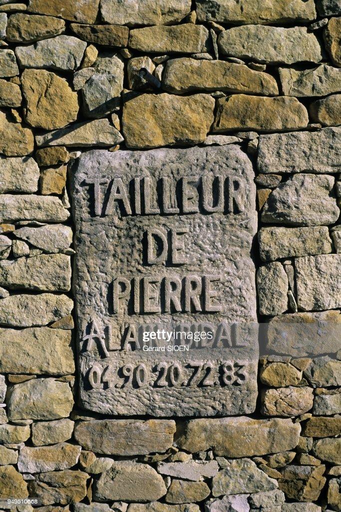 Alain Bidal stonecutter alain bidal in isle sur la sorgue, provence, france