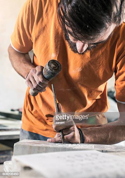 Stonecutter at  Work