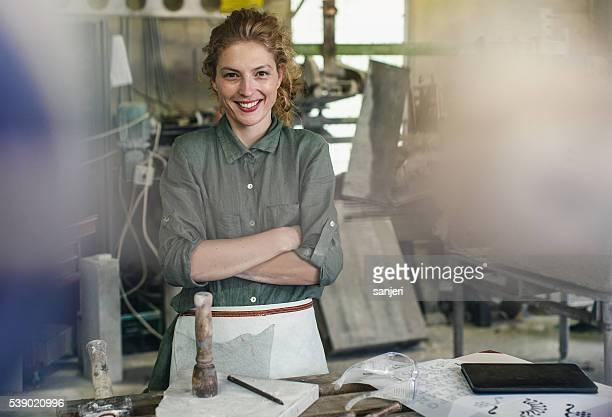 Stonecutter Retrato de mujer