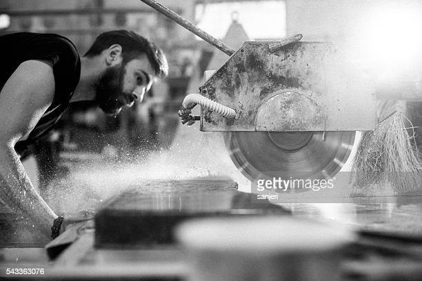 Stonecutter working