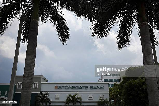Stonegate bank branch is seen on May 21 2015 in Miami Florida The Florida bank has opened a bank account for the Cuban government and in the process...