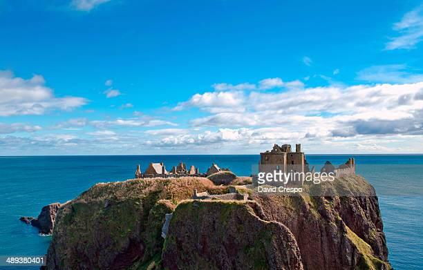 Stonehaven Castle at Stonehaven, Scotland.