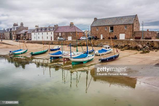 stonehaven harbour - aberdeenshire stock pictures, royalty-free photos & images