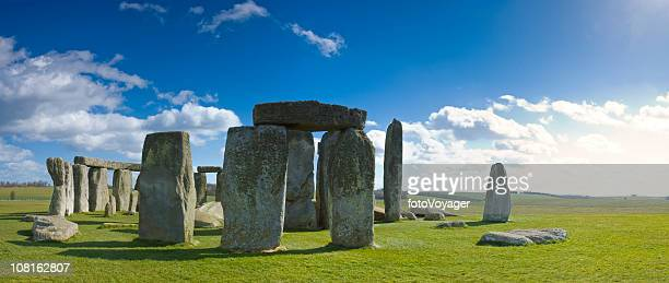 Stonehenge Against Blue Sky on Sunny Day