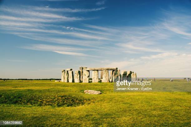 stonehenge against sky - ancient history stock pictures, royalty-free photos & images
