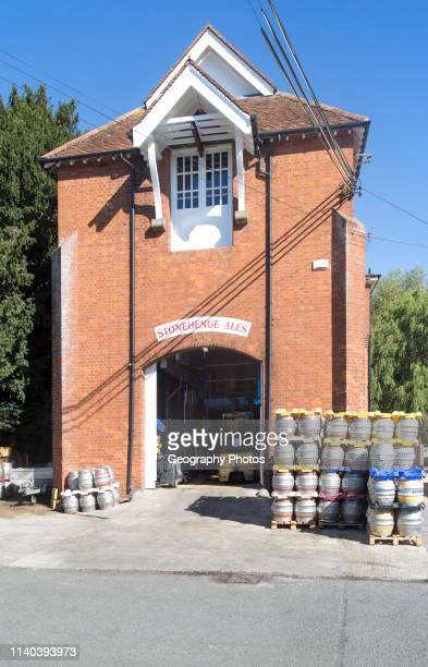 Stonehenge Ales brewery Netheravon Wiltshire England UK in old electrical power plant building built in 1914