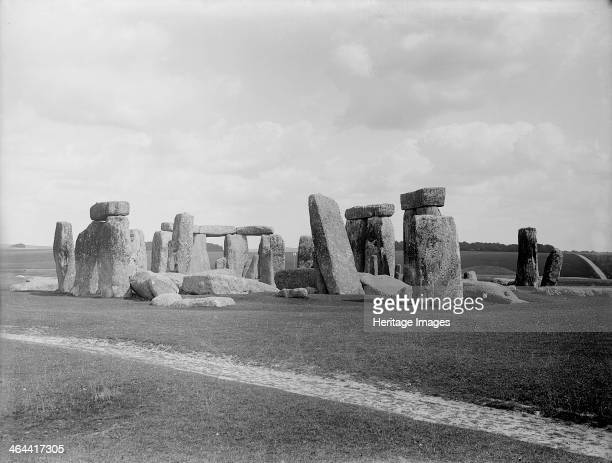 Stonehenge Amesbury Wiltshire A view of the sarsen stone circle at Stonehenge The sarsen circle dates to circa 1500 BC and was the final phase of a...