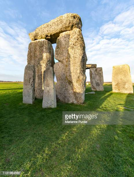 stonehenge in the early morning - winter solstice stock photos and pictures