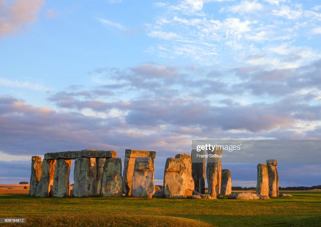 Stonehenge in the evening sun, England : Stock Photo